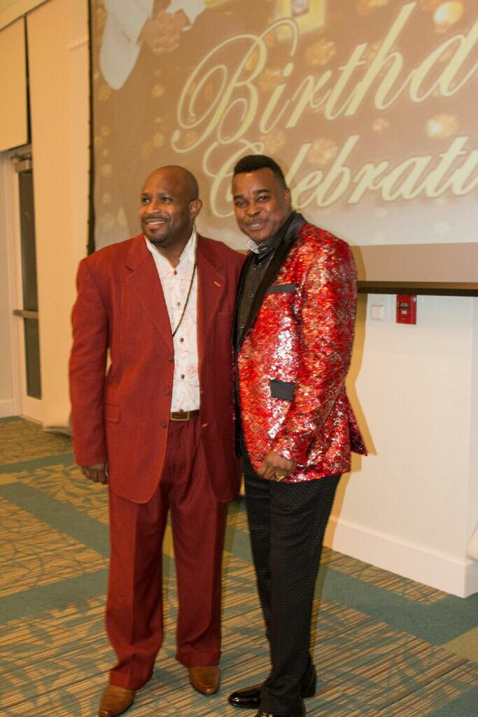 Dr. Apostle Michael Hunter with Apostle Cleon Munroe celebrating at Apostle Michael Hunter's 49th Birthday Celebration!